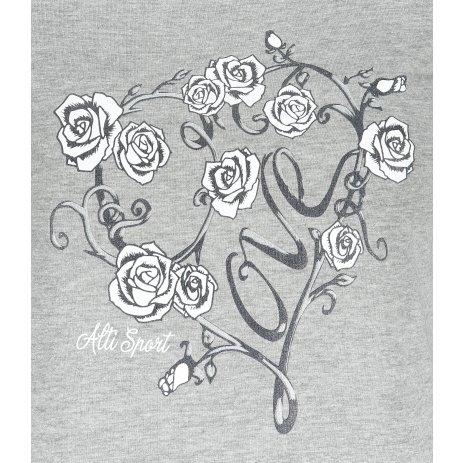 Dámské triko ALTISPORT ALW062122 TMAVĚ ŠEDÝ MELÍR