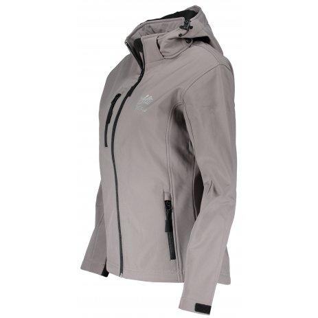 Dámská softshellová bunda ALTISPORT ALW056521 OCELOVĚ ŠEDÁ