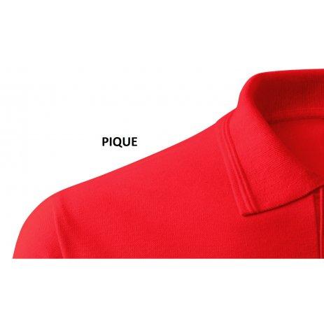 Pánské triko s límečkem ALTISPORT ALM065203 ČERVENÁ