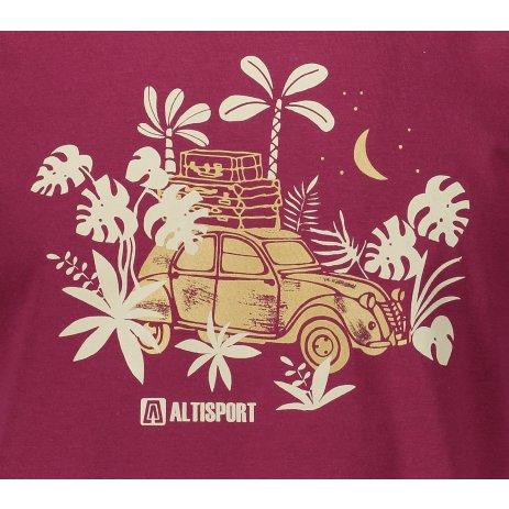 Pánské triko ALTISPORT ALM059129 FUCHSIOVÁ