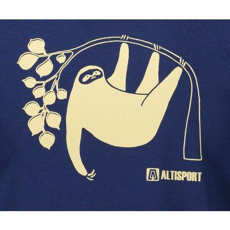 Pánské triko ALTISPORT ALM070129 PŮLNOČNÍ MODRÁ