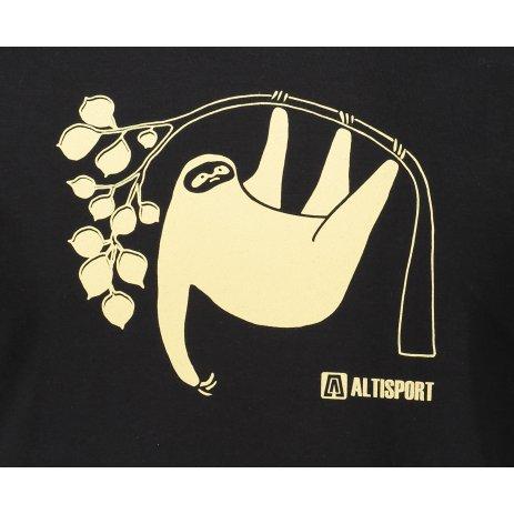 Pánské triko ALTISPORT ALM070129 ČERNÁ