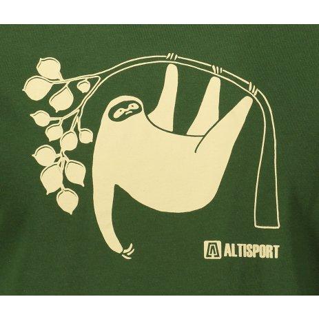 Pánské triko ALTISPORT ALM070129 LAHVOVĚ ZELENÁ