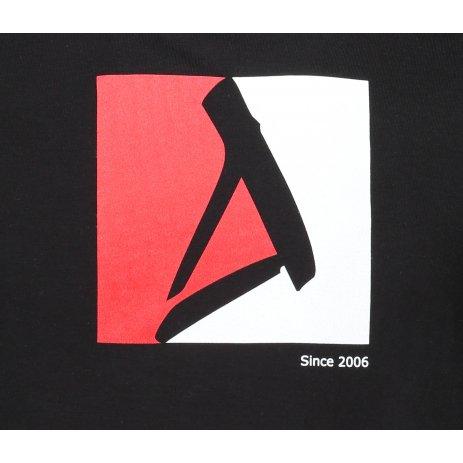 Pánské triko ALTISPORT ALM069129 ČERNOČERVENÁ