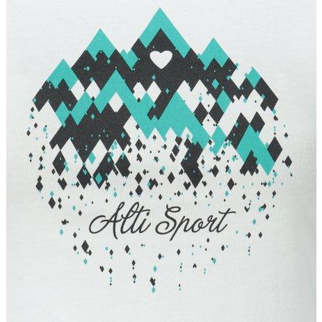 Dámské triko ALTISPORT ALW067122 BÍLÁ