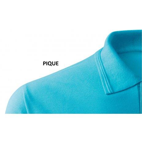 Pánské triko s límečkem ALTISPORT ALM071203 TYRKYSOVÁ