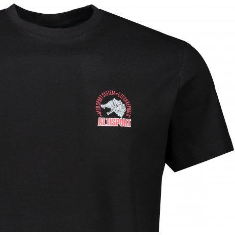 Pánské triko ALTISPORT ALM071129 ČERNOČERVENÁ