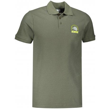 Pánské triko s límečkem ALTISPORT ALM071203 KHAKI