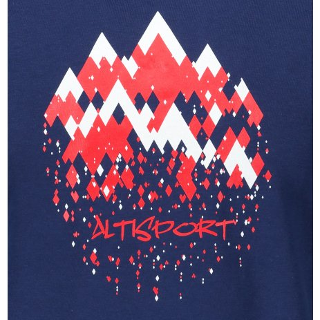 Pánské triko ALTISPORT ALM068129 PŮLNOČNÍ MODRÁ