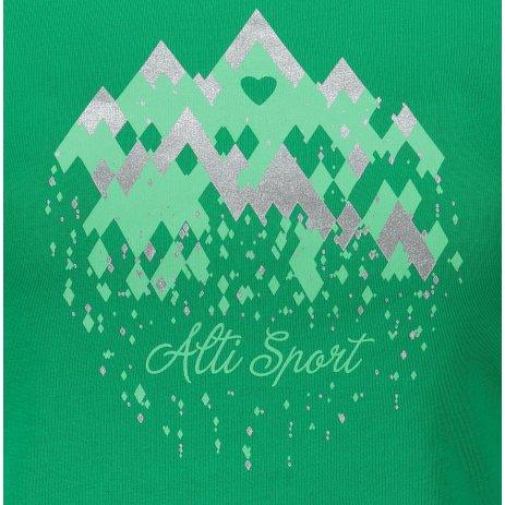 Dámské triko ALTISPORT ALW067122 STŘEDNĚ ZELENÁ