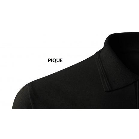 Pánské triko s límečkem ALTISPORT ALM071203 ČERNOČERVENÁ
