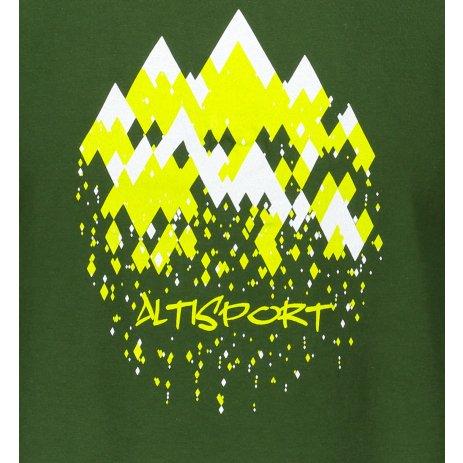 Pánské triko ALTISPORT ALM068129 LAHVOVĚ ZELENÁ