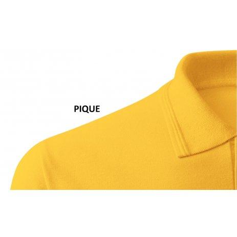 Pánské triko s límečkem ALTISPORT ALM071203 ŽLUTÁ