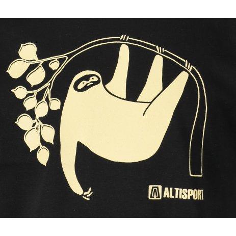 Dětské triko ALTISPORT ALK070138 ČERNÁ