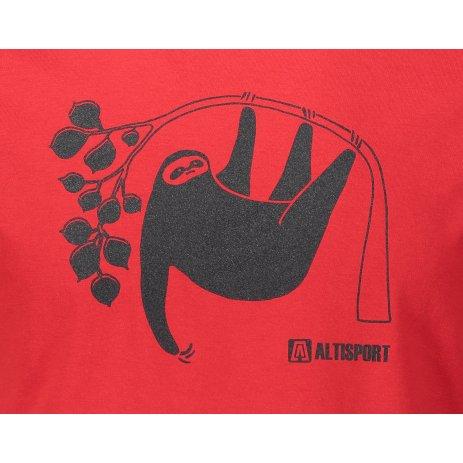Pánské triko ALTISPORT ALM070129 ČERVENÁ
