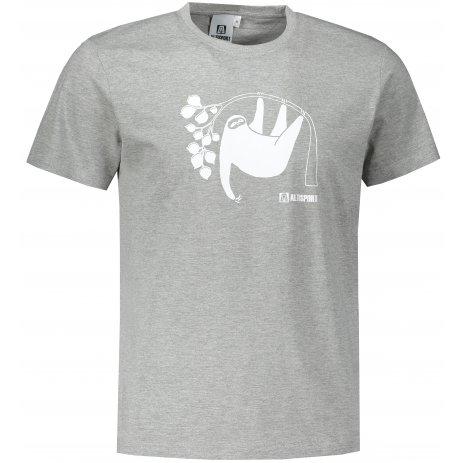 Pánské triko ALTISPORT ALM070129 TMAVĚ ŠEDÝ MELÍR