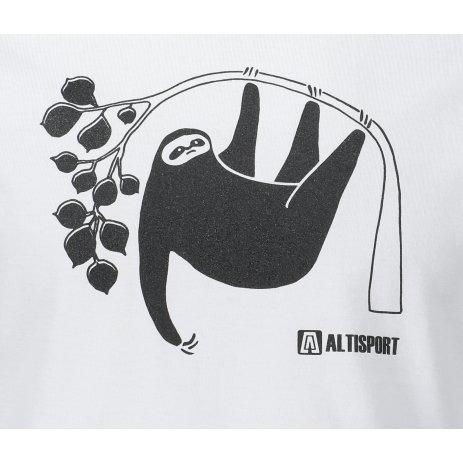 Pánské triko ALTISPORT ALM070129 BÍLÁ