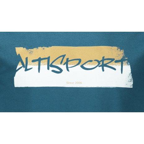 Pánské triko ALTISPORT ALM074129 PETROLEJOVÁ