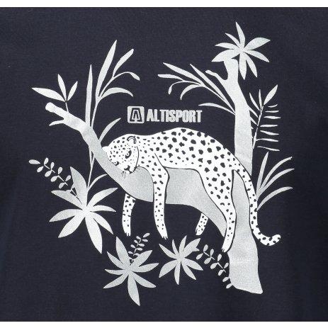 Pánské triko ALTISPORT ALM075129 NÁMOŘNÍ MODRÁ