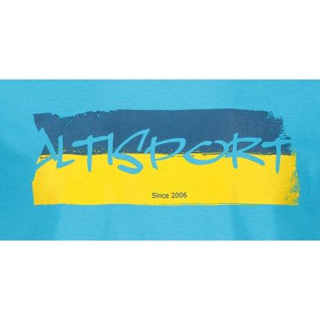 Pánské triko ALTISPORT ALM074129 TYRKYSOVÁ
