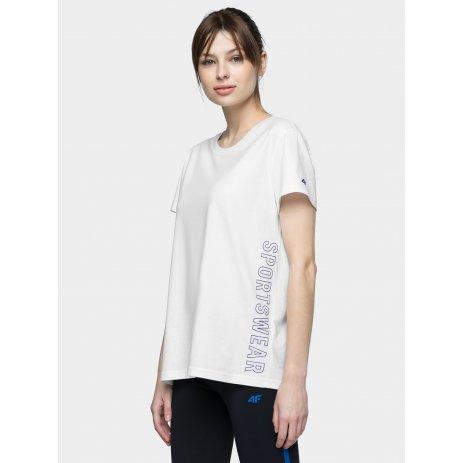 Dámské triko 4F H4L21-TSD020 WHITE