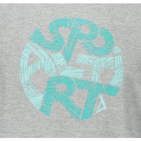 Pánské triko ALTISPORT ALM086129 TMAVĚ ŠEDÝ MELÍR