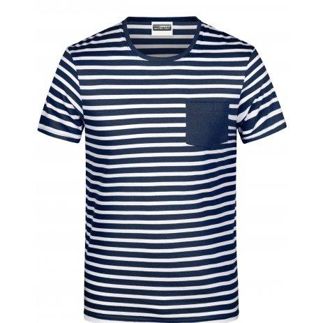 Dámské triko JAMES NICHOLSON 8027 NAVY/WHITE