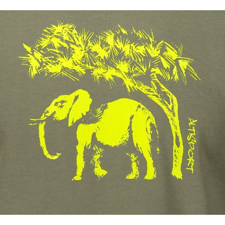 Pánské triko ALTISPORT ALM083129 KHAKI