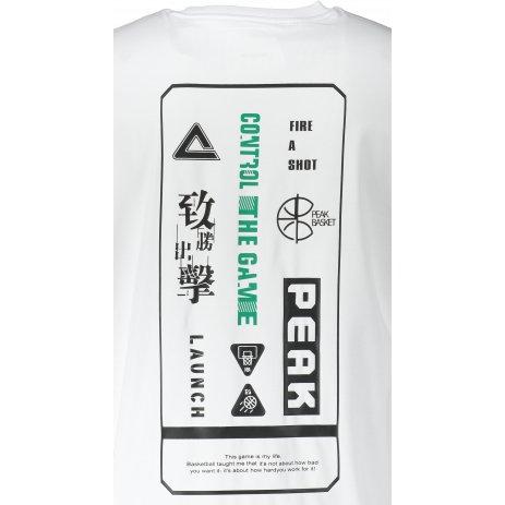 Pánské triko PEAK ROUND NECK T SHIRT FW611391 WHITE