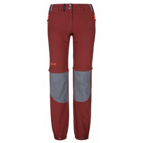 Dámské kalhoty KILPI HOSIO-W PL0024KI TMAVĚ ČERVENÁ