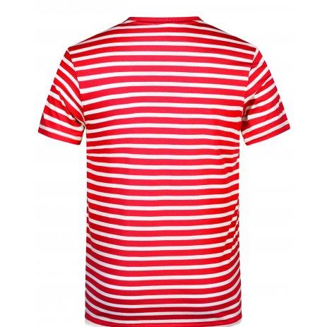 Pánské triko JAMES NICHOLSON 8028 RED/WHITE