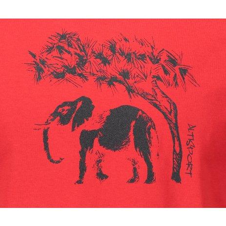 Pánské triko ALTISPORT ALM083129 ČERVENÁ