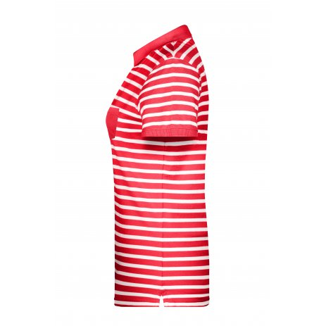 Dámské triko s límečkem JAMES NICHOLSON 8029 RED/WHITE