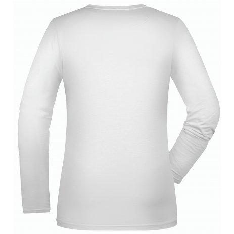 Dámské triko s dlouhým rukávem JAMES NICHOLSON JN054 WHITE