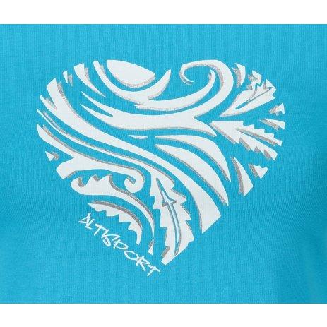Dámské triko ALTISPORT ALW077122 TYRKYSOVÁ