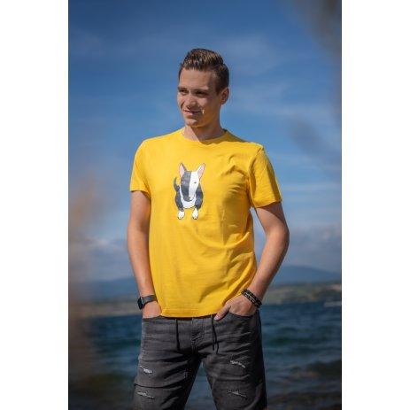 Pánské triko ALTISPORT ALM079129 ŽLUTÁ