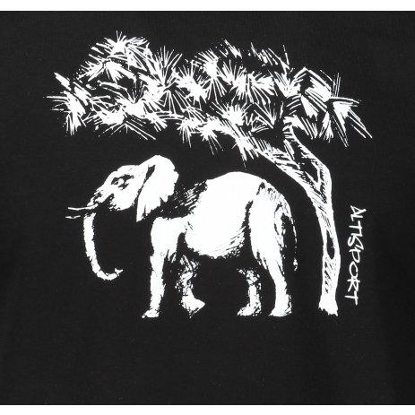 Pánské triko ALTISPORT ALM083129 ČERNOBÍLÁ