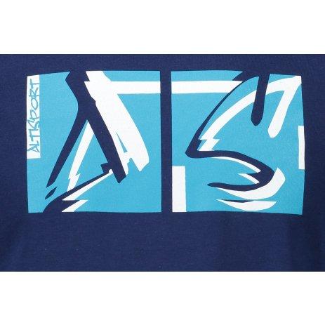 Pánské triko ALTISPORT ALM078129 PŮLNOČNÍ MODRÁ