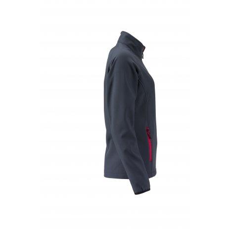 Dámská softshellová bunda JAMES NICHOLSON JN1129 IRON GREY/RED