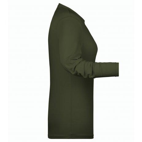 Dámské triko s dlouhým rukávem JAMES NICHOLSON JN054 OLIVE