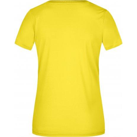 Dámské funkční triko JAMES NICHOLSON JN735 YELLOW