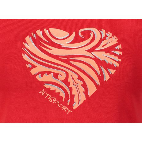 Dámské triko ALTISPORT ALW077122 ČERVENÁ