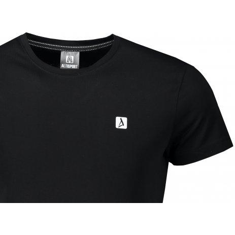 Pánské premium triko ALTISPORT ALM065153 ČERNOBÍLÁ