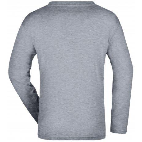 Pánské triko s dlouhým rukávem JAMES NICHOLSON JN913 GREY HEATHER