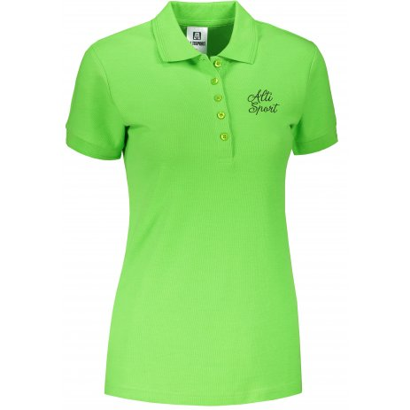 Dámské triko s límečkem ALTISPORT ALW056210 APPLE GREEN
