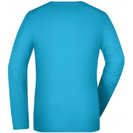 Dámské triko s dlouhým rukávem JAMES NICHOLSON JN927 TURQUOISE