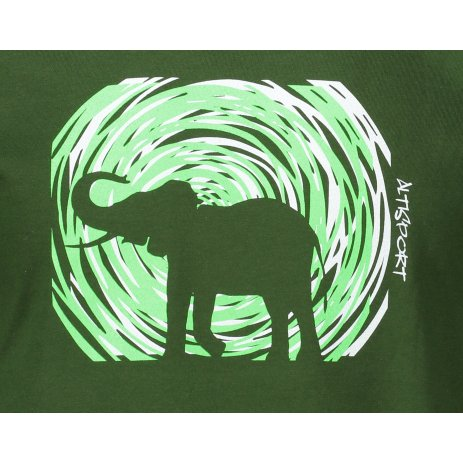 Pánské triko ALTISPORT ALM090129 LAHVOVĚ ZELENÁ