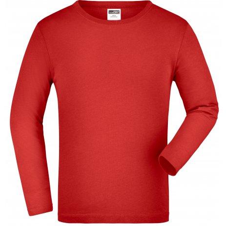 Dětské triko s dlouhým rukávem JAMES NICHOLSON JN913K RED