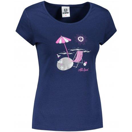 Dámské triko ALTISPORT ALW100122 PŮLNOČNÍ MODRÁ