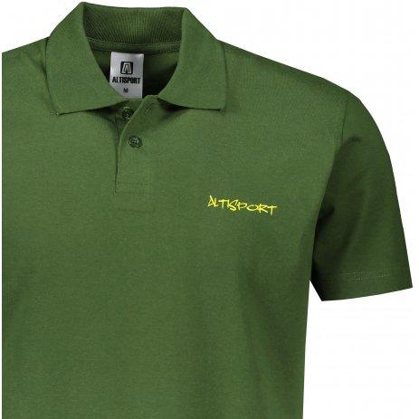 Pánské triko s límečkem ALTISPORT ALM110202 LAHVOVĚ ZELENÁ